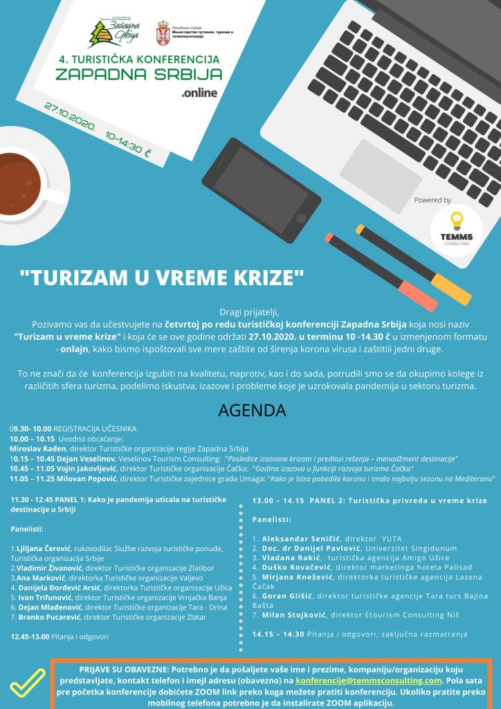 Onlajn konferencija Turizam u vreme krize